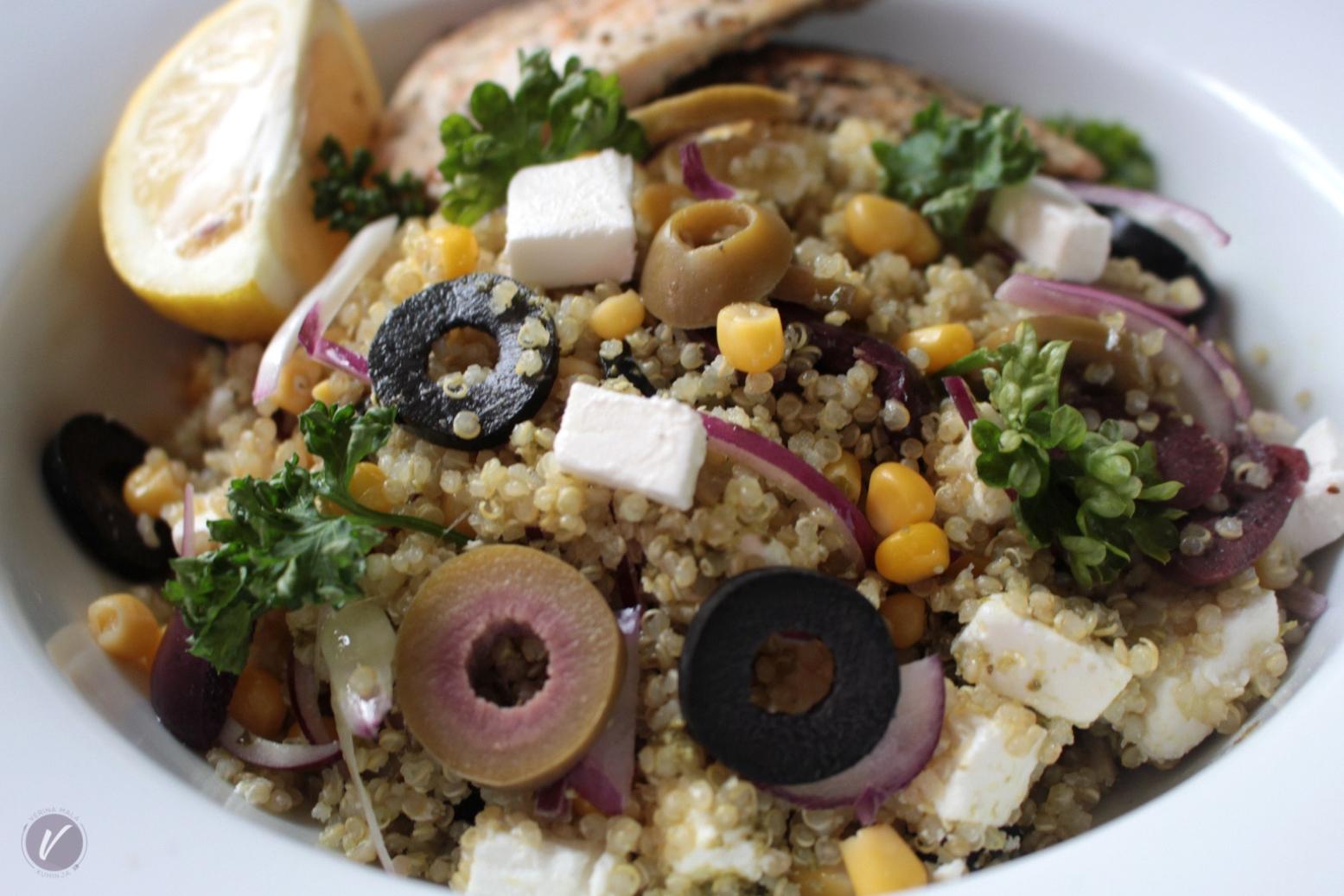 Recept za letnju salatu sa kinoom i piletinom