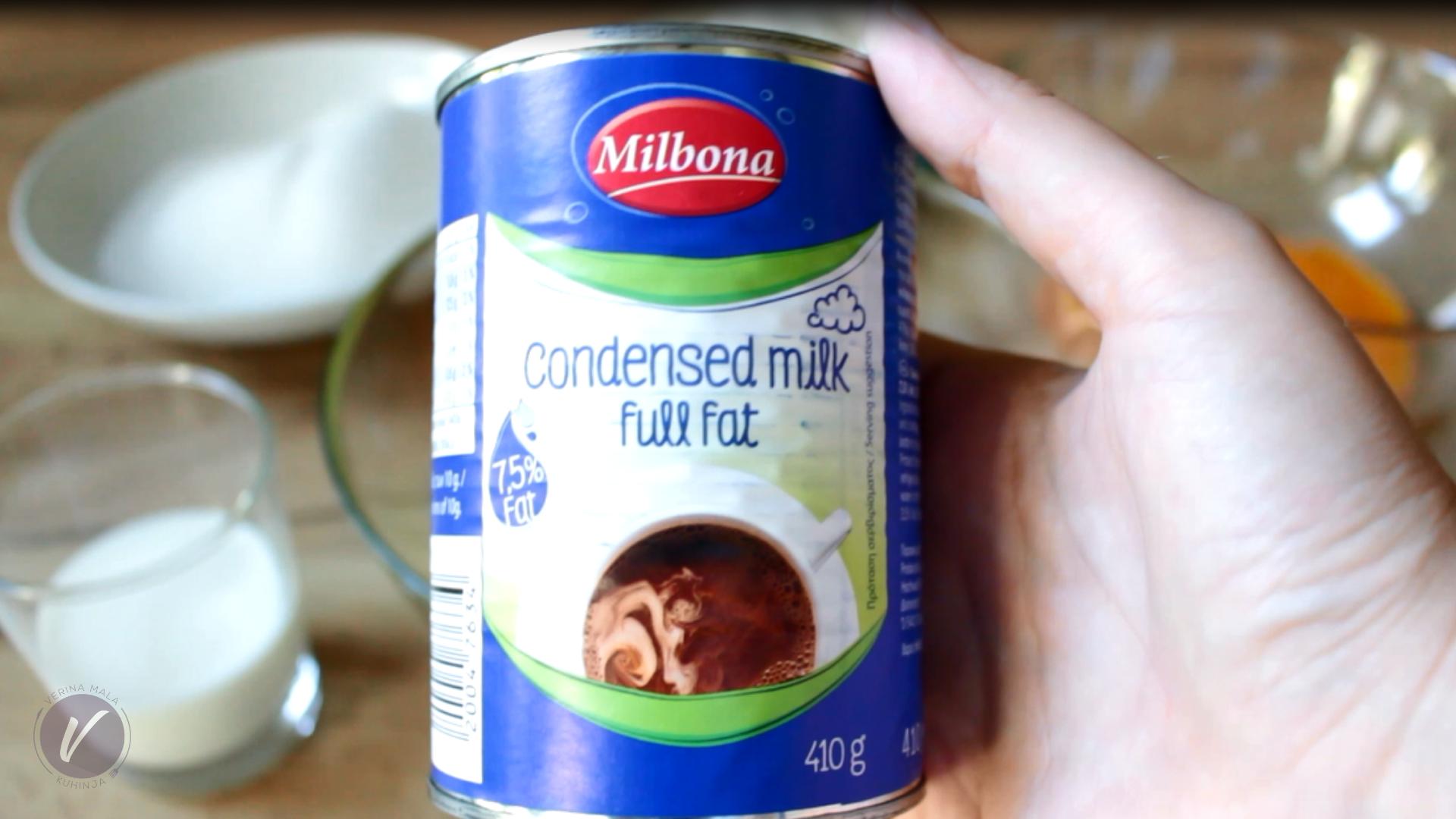 Evaporisano mleko je osnovni sastojak kolaca Tres leches