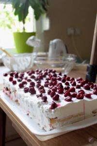 Lak i jednostavan kolac sa piskotama i visnjama