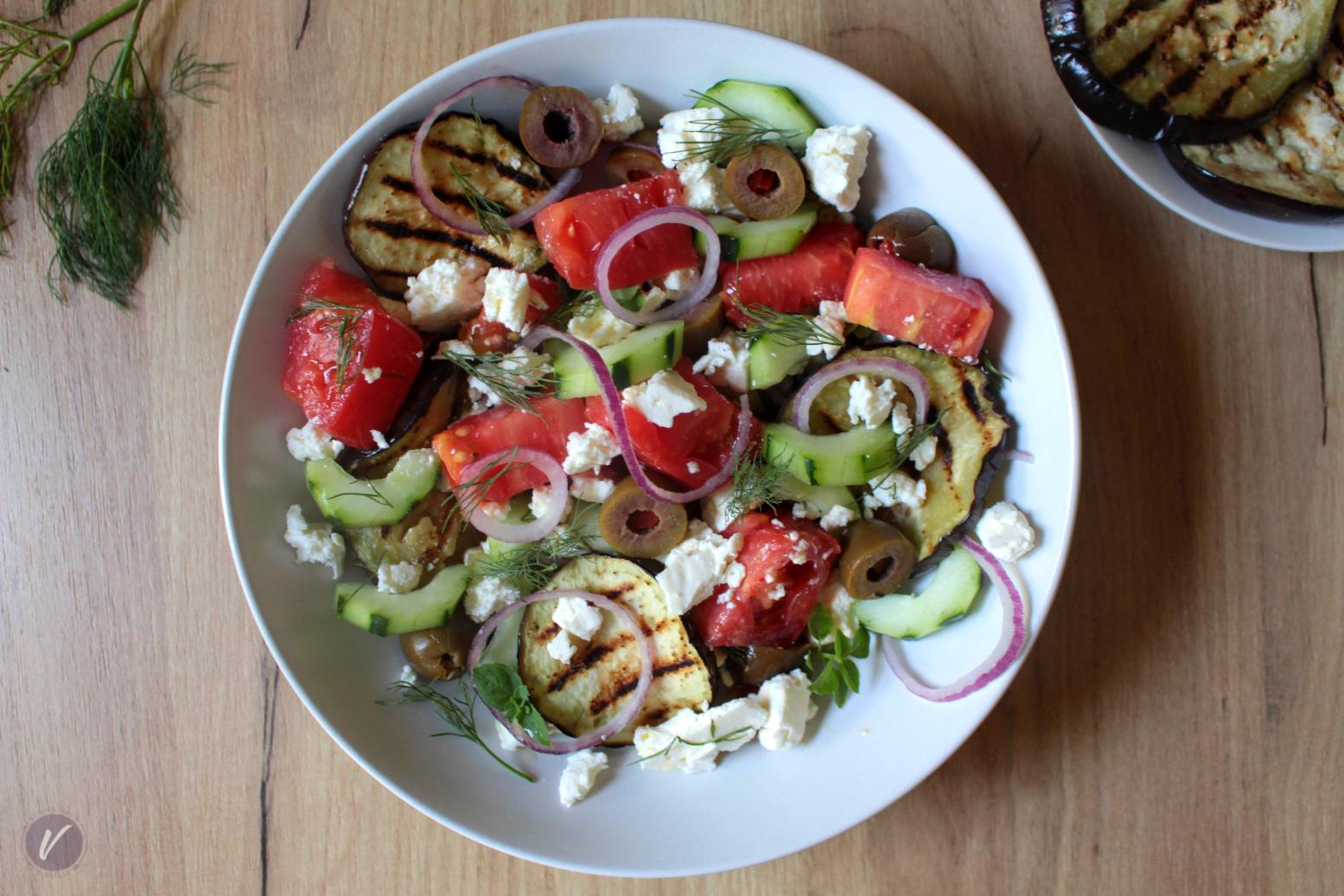Brza salata sa patlidzanom i mirodjijom