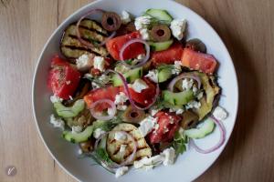Sveza salata sa patlidzanom i mirodjijom